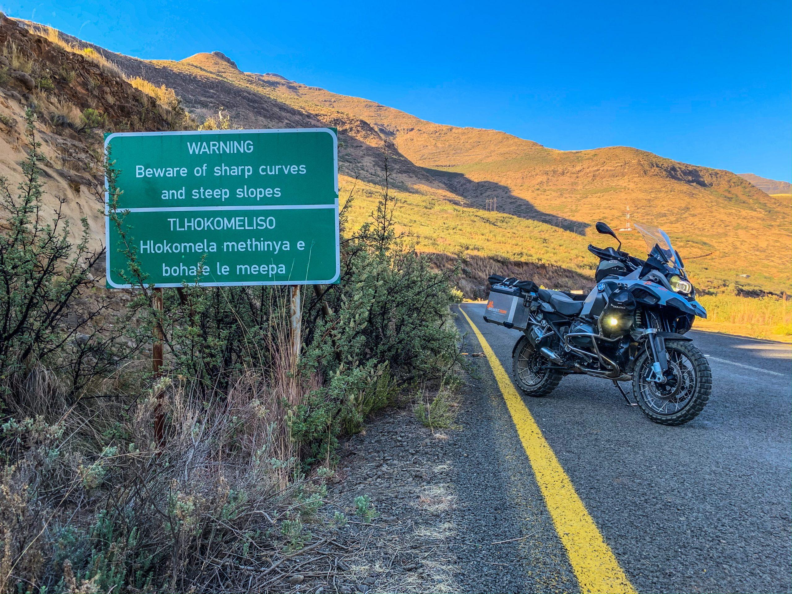 BMW Lesotho sharp curves
