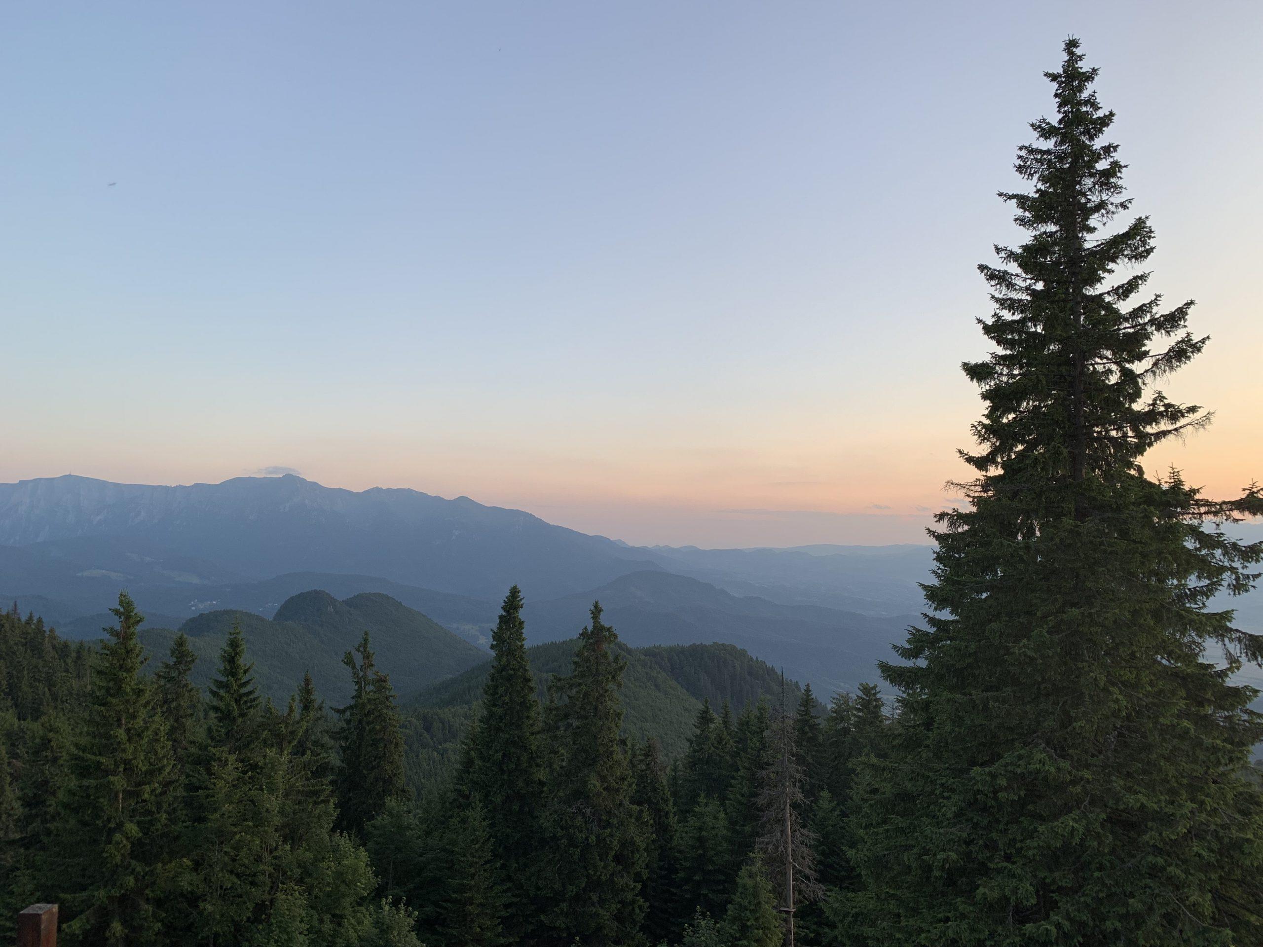 Schuler Hütte Sonnenuntergang